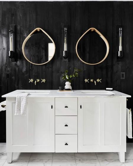 23 cuartos de baño en blanco y negro, la combinación que ...