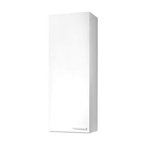 ARKITMOBEL 305270BO - Koncept Washbasin Cabinet, Bathroom Column Finished in Glossy White Color, Measurements: 30 x 85 x 25 cm Deep