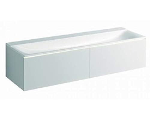 Geberit Xeno 2 undermount unit 500.348, 1595x350x473 mm, 2 drawers, for Washbasin on Mineral Material, Color: Matt gray lacquer - 500.346.00.1