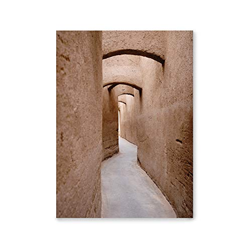 Decorative Laminates |  Architecture Model |  Alley in Yazd, Iran |  Frame Color White |  Gray Passepartout |  Home Decoration |  Decorative Sheets for Framing |  Sheets for Pictures |  40x50cm