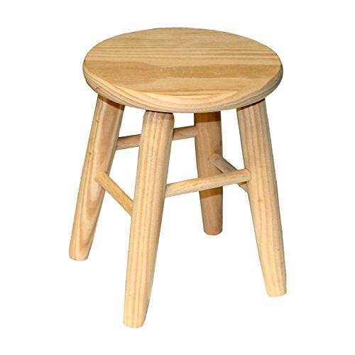 Natural wood stool 33 x 22 x 22 cm
