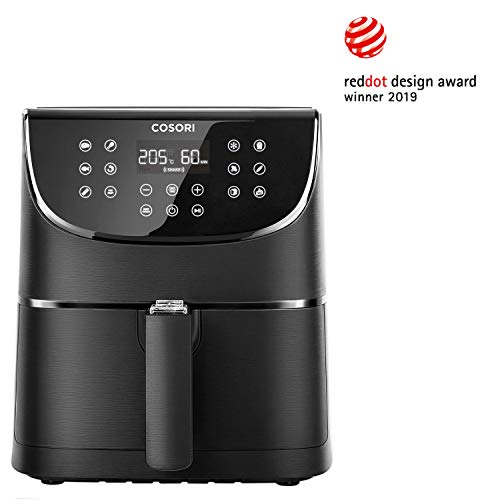 COSORI Oil-Free Fryer 5.5L, Hot Air Fryer with 11 Programs, Air Fryer with Keep Warm Function, LED Touch Screen, Timer, BPA and PFOA Free, 100 PDF Recipes, 1700W