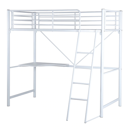 Bunk bed with desk