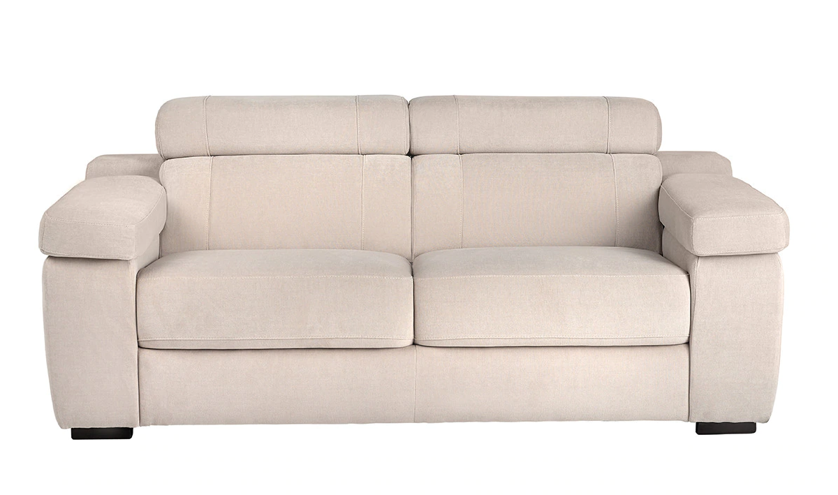 Upholstered three-seater sofa