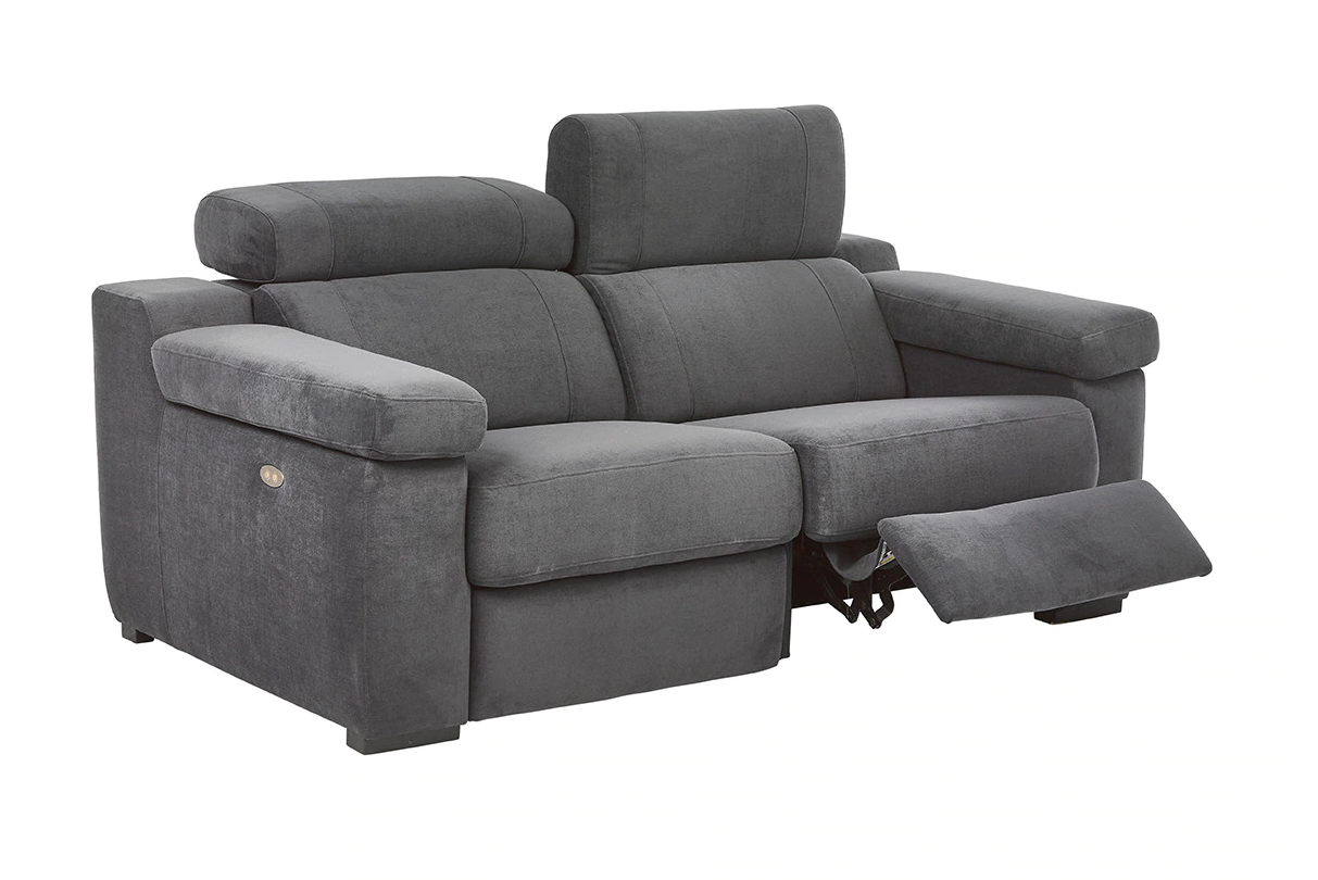 Upholstered 2 seater sofa with 2 electric relax seats City