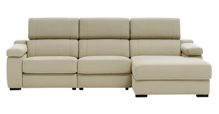 Sofa with lowered chaise longue