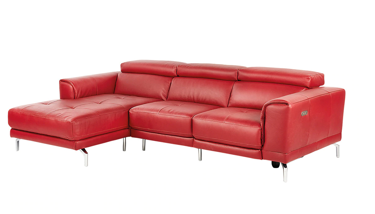 5-seater leather sofa with left chaise longue and a Bond electric relax seat