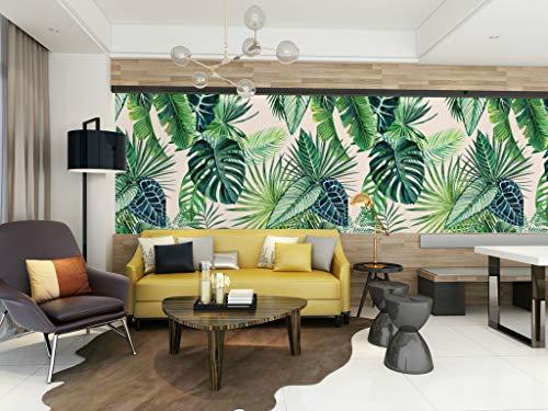 HUANGYAHUI Wall Mural Tropical Plant, Southeast Asian Style, Banana Leaf.  Wallpaper modern wall decor murals wallpaper