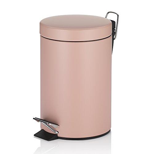 KECKU 20525 Rose Metal Bucket 26.0 cm 17.0 cmØ 3.0L Metal, Light Pink Color, 17 x 17 x 26 cm
