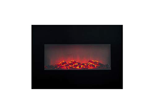 Classic Fire Memphis' Electric Heater with led lighting-1800W, Black, One Size