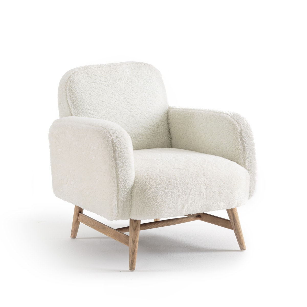 Cody faux fur armchair, design E.Gallina
