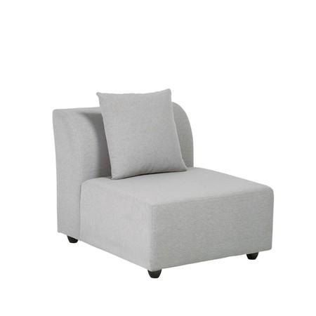 Light Gray Modular Sofa Armchair 1000 13 33 175 759 2