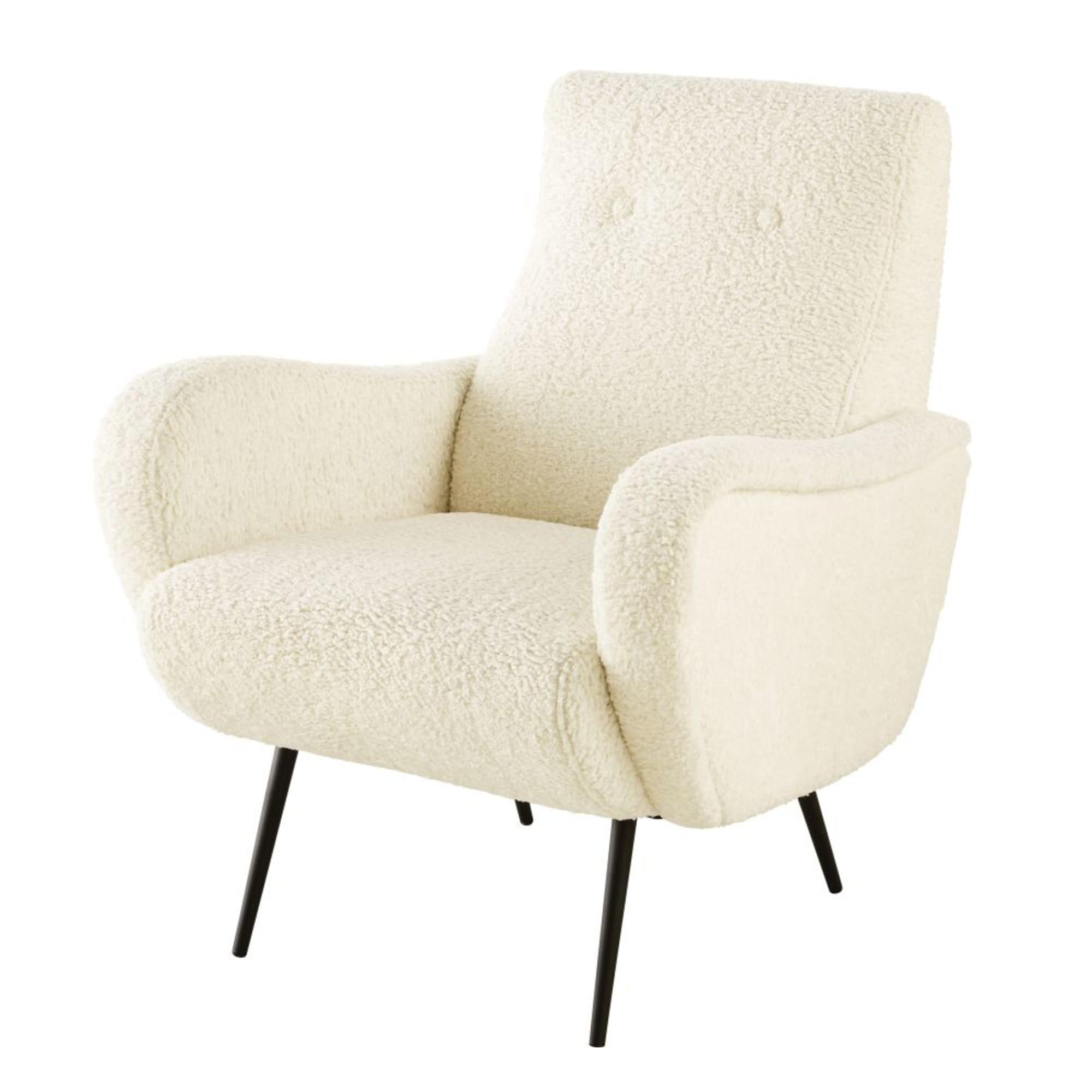 POLUX- Synthetic hair armchair