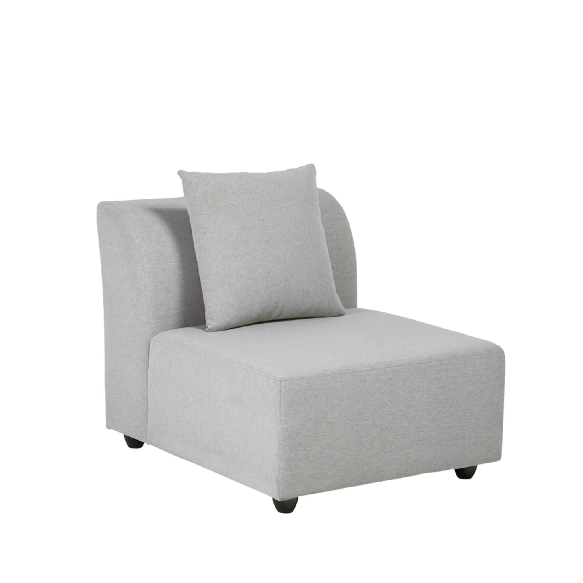 LUCY- Light gray modular sofa armchair
