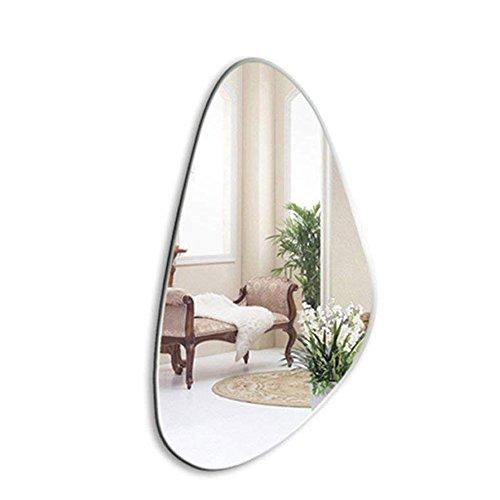 YHFX Bathroom Mirror, Simple Frameless Wall Mirror, Beveled, Cosmetic Mirror, 52 x 100 cm, Wall Mountable Vanity Mirrors