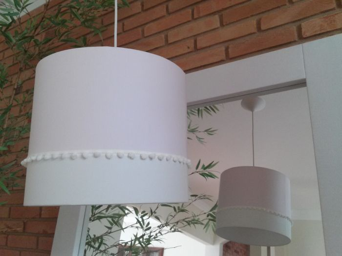 handmade pompom chandelier