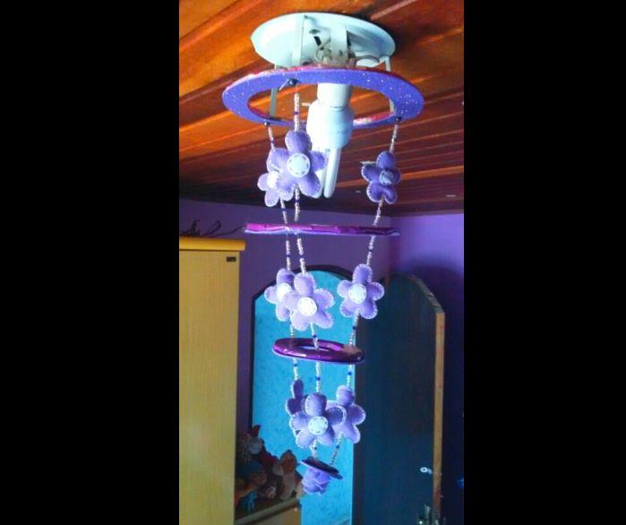 handmade felt chandelier