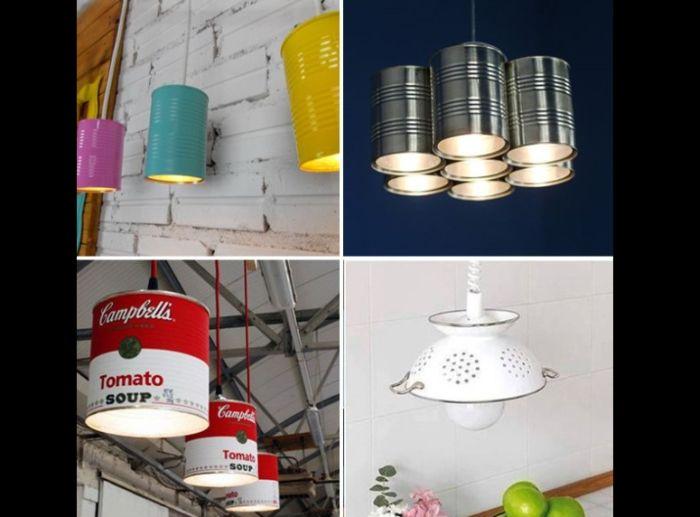 handmade tin chandelier