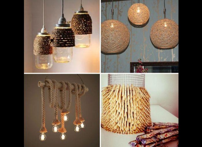 recycled handmade chandelier