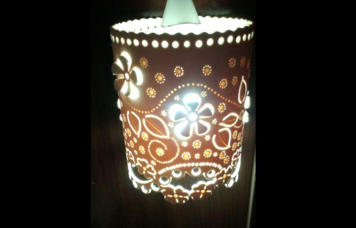 handmade pipe chandelier