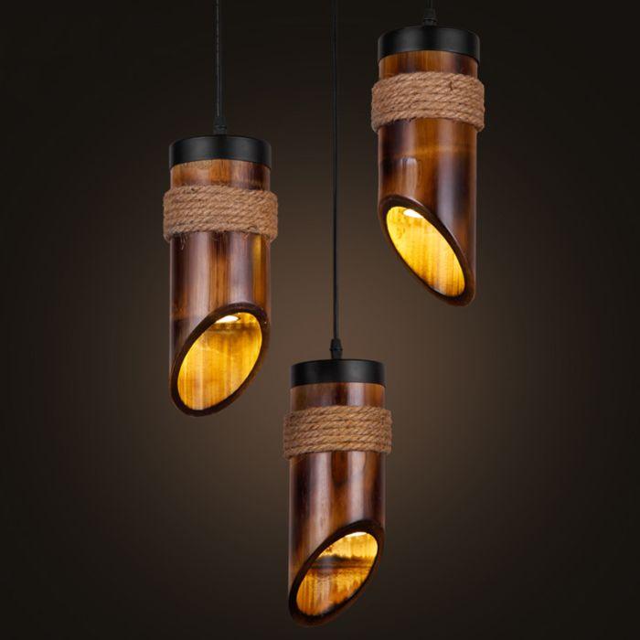 handmade bamboo chandelier