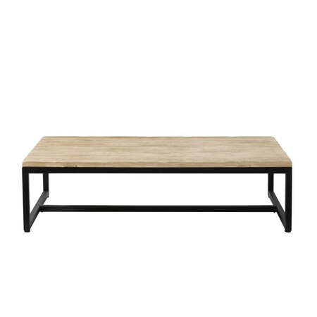 Industrial Solid Spruce And Metal Low Table 1000 13 23 103 917 4