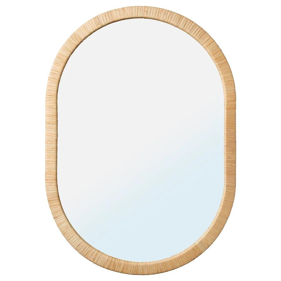OPPHEM Mirror, rattan54x77 cm
