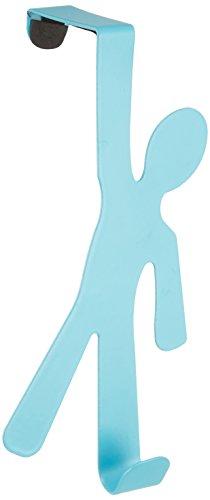 Wenko Overdoor Hanger, Steel, Blue, 7 x 15 x 2.5 cm