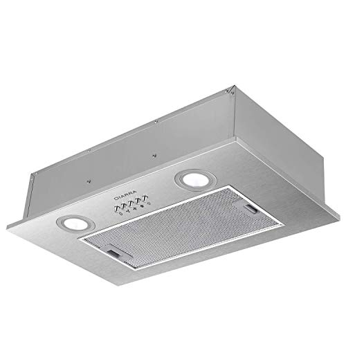 CIARRA CBCS5913A Built-in Extractor Hood Evacuation to the outside and internal recirculation by Carbon Filter CBCF005 Width 52 cm Capacity 300 m³ / h Stainless Steel