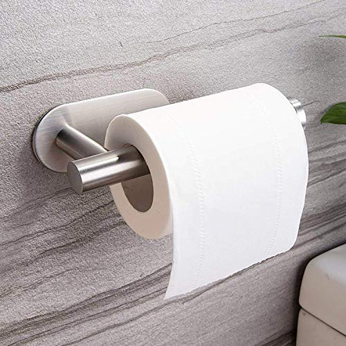 ZUNTO Stainless Steel Bathroom Roll Holder - Self-adhesive Toilet Paper Holder For Bathrooms