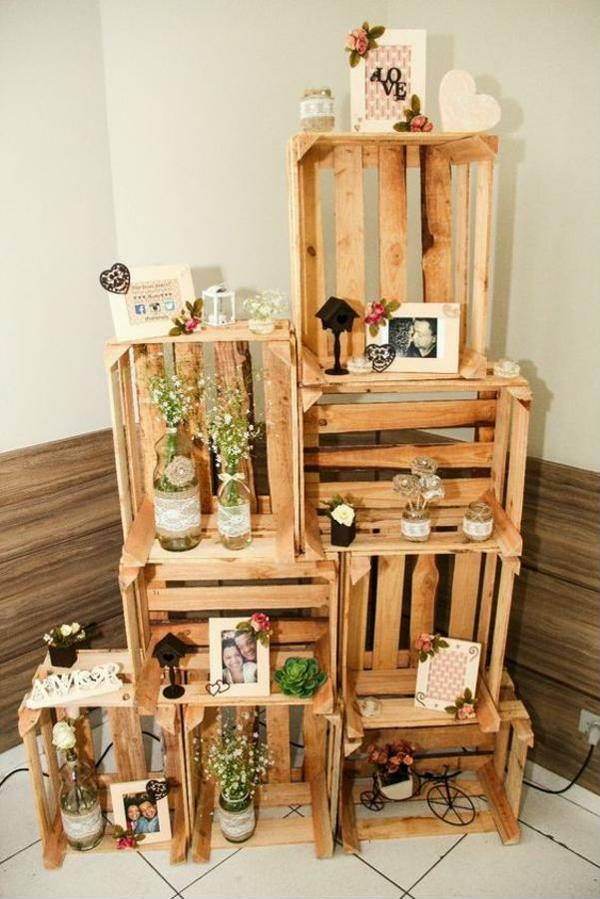decoration with crates