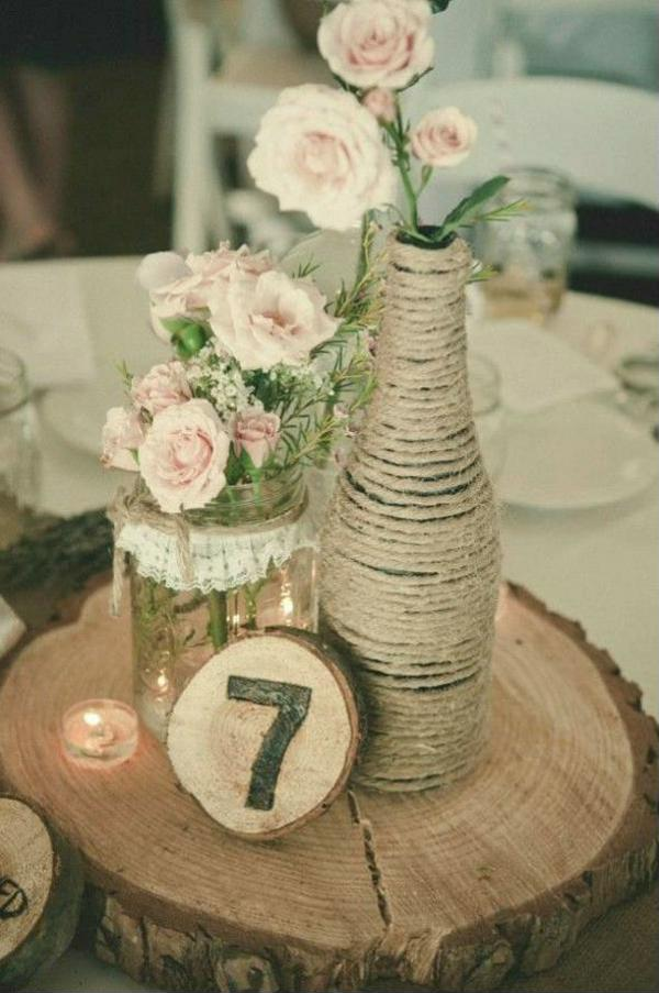 Centerpiece with customized bottle