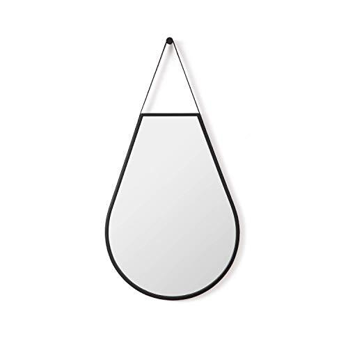 Appearance - Teardrop Hanging Wall Mirror, Black Color, 51 x 98 cm