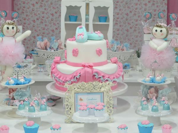 Details decorated ballerina party table