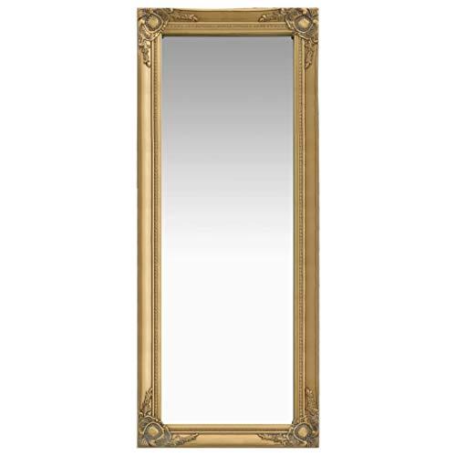 vidaXL Gold Baroque Style Wall Mirror 50x120 cm