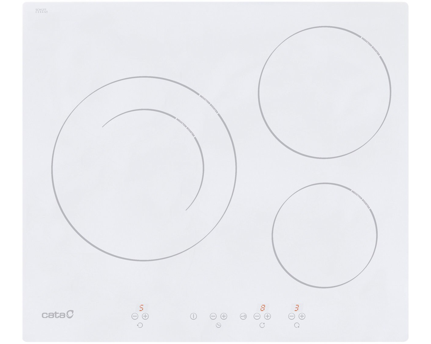 CATA Ib 6203 6.3 x 59 cm induction hob with 3 cooking zones