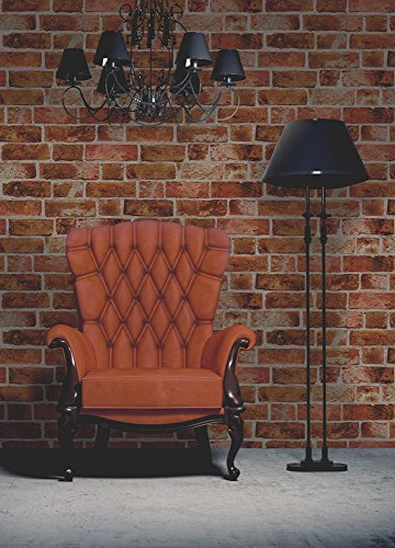 Brewster FD31045 - Brick Wallpaper - Orange
