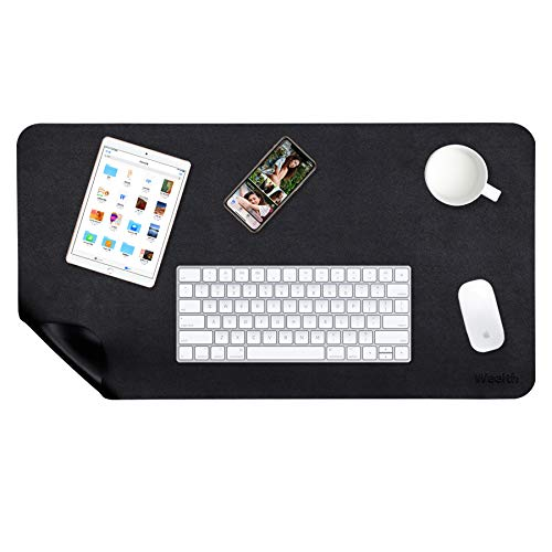 Weelth - Mouse Pad 600x350mm, Non-slip and Waterproof Desk Mat PU Leather, Office Desk Mat, Double-sided