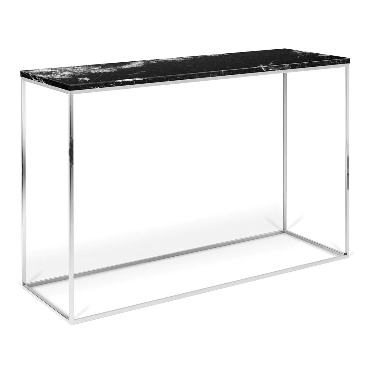 Marble console with chrome structure Astoria Room - El Corte Inglés
