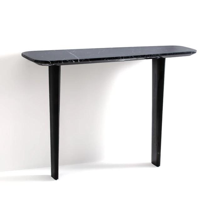 Dolmena black marble console