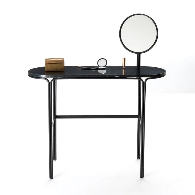Marble and metal dressing table, Moricio