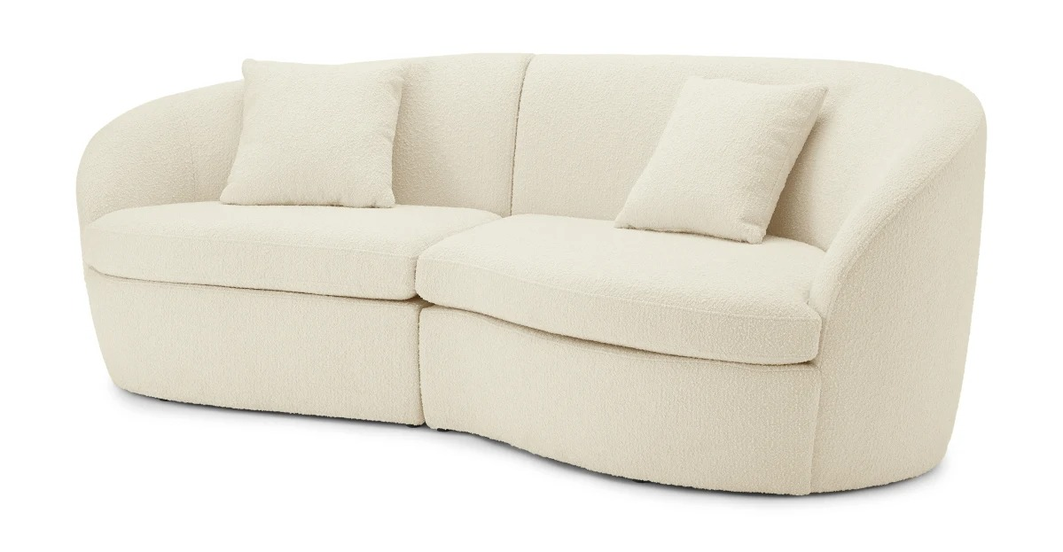Reisa Designed by Ian Archer Reisa 3 Seater Sofa, bouclé with white wash effect