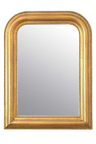 Large Gold Wall Mirror on Mantle (80 x 60 cm)