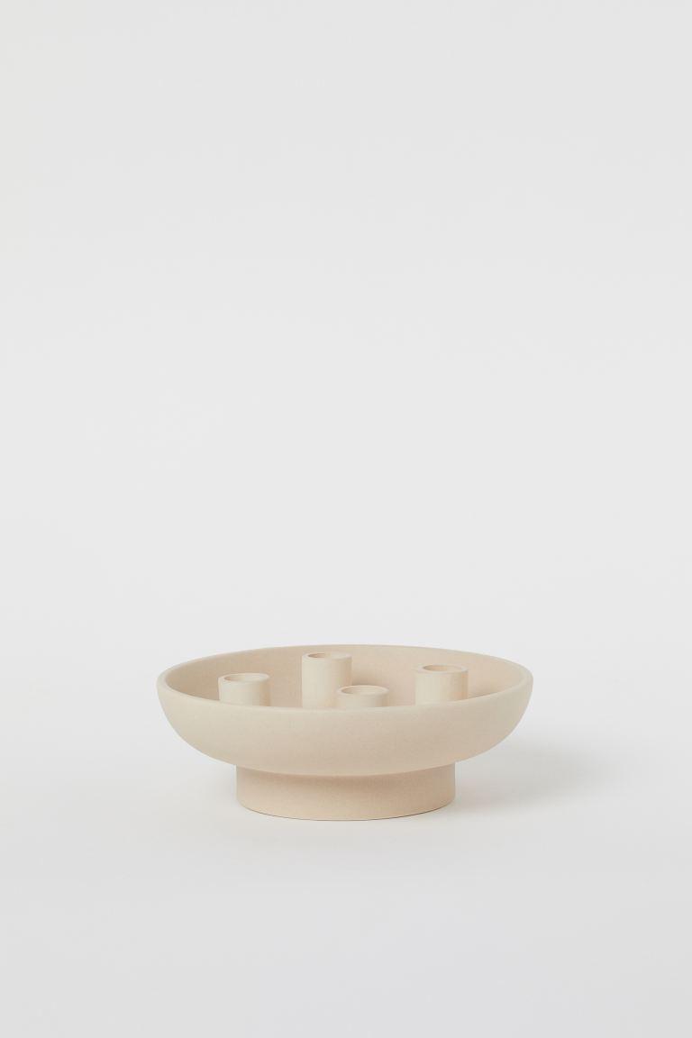 Ceramic round candle holder