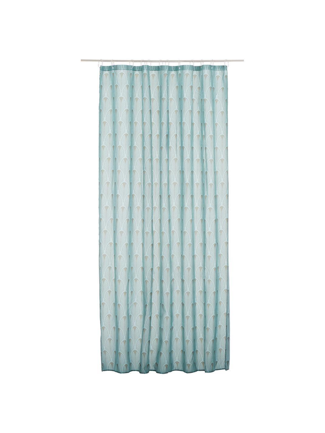 Ashville shower curtain, Art Deco style