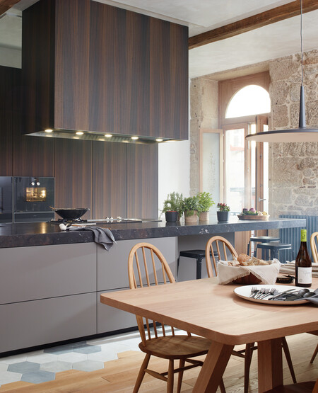 Open Kitchens With Island Sideboard Dining Room Design Santos 01