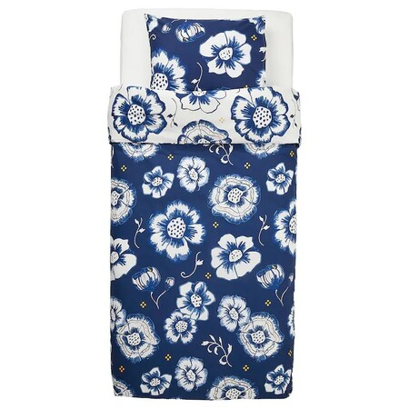 Sanglarka Nordic Cover Flower Pillow Cover Dark Blue White 0672872 Pe716911 S5