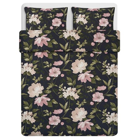 Blekfryle Duvet Cover 2 Black Flower Pillowcases 0734242 Pe739375 S5