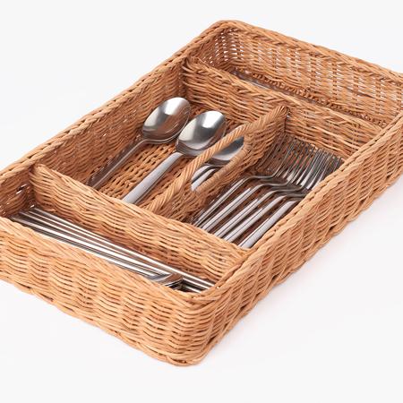 Rattan Cutlery Trays