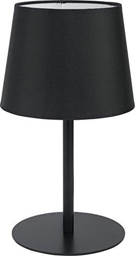 Table lamp black fabric lampshade metal structure Bauhaus Simple Design Monotone H 36 cm E27 Night Table lamp table lamp